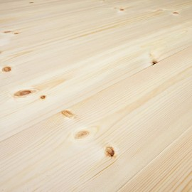 Baseco Golv. Massiv Fyr Planker. Økonomi. Dim. 20 x 113 mm. Ubehandlet.