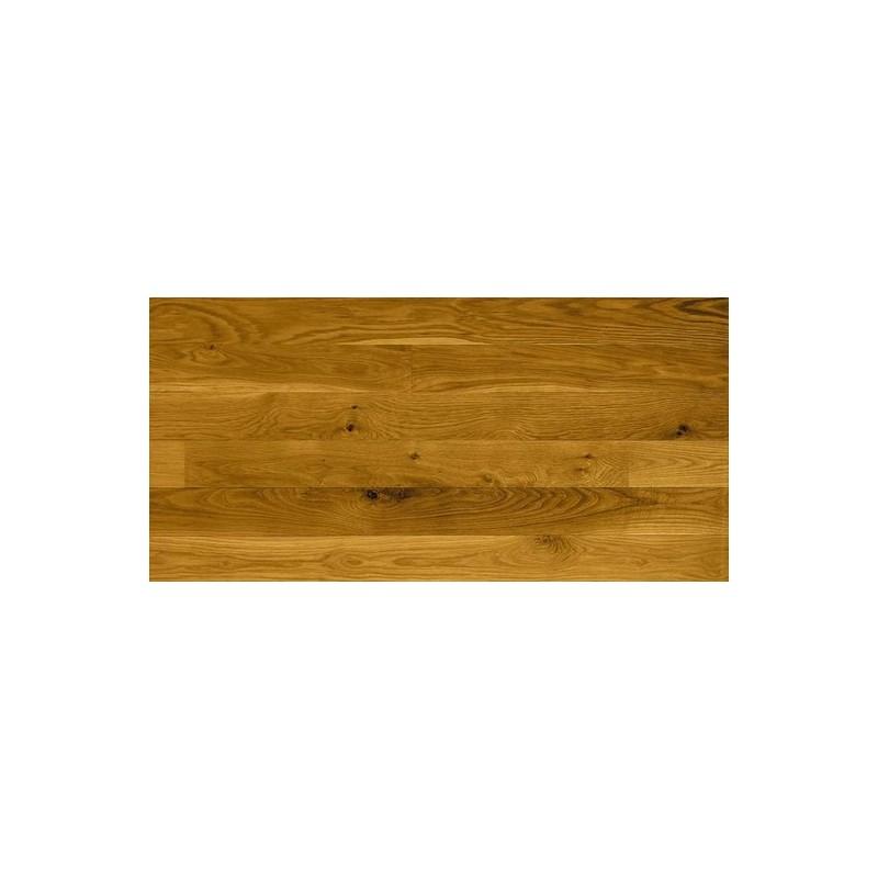 20,5 mm massiv Eg plank. Bredde 140 mm. Harmony. Silkemat lakeret.