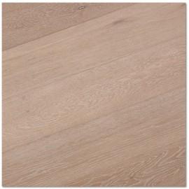 Basicplank. Lamel Eg Planker. Dim. 15 x 180 mm. Natur. Let børstet. Hvid Mat Lak.