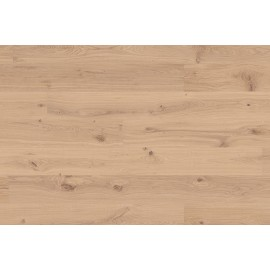 Berg & Berg. Lamel Eg Plank. Knotty. Hjerter. Børstet. Dim. 14 x 195 x 2390 mm. Hvid olie.