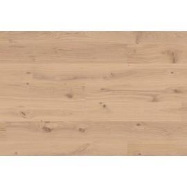 Berg & Berg. Lamel Eg Plank. Knotty. Hjerter. Børstet. Dim. 14 x 195 x 2390 mm. Hvid mat lak.