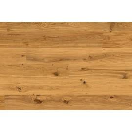 Lamel Eg Plank. Knotty. Hjerter. Børstet. Dim. 14 x 195 x 2390 mm. Natur olie.