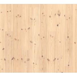 Lamel Nordlandsfyr. Spar. Dim. 14 x 195 x 2390 mm. Hvid mat lak.
