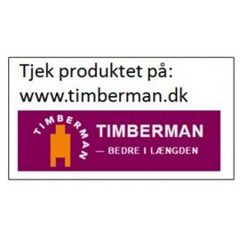 Timberman. Eg Country. Børstet. Lamelplank. Dim. 14 mm x 220 x 2200 mm. Ultramat Lak Hvid.