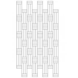 Lamel Eg 3 stav. Hollandsk Mønster. 4 stave på tværs. Lenk. Select. Dim. 22 x 167 x 2160 mm. Natur matlak.