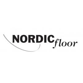 Nordic Floor. Ask lamelparket. Natur. Dim. 14 x 207 x 2200 mm. Hvid matlak.
