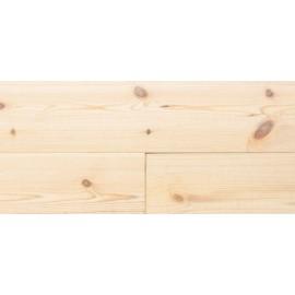 Massiv Fyr Planker. Frost. Børstet. Dim. 20 x 137 mm. Hårdvoksolie Hvid.