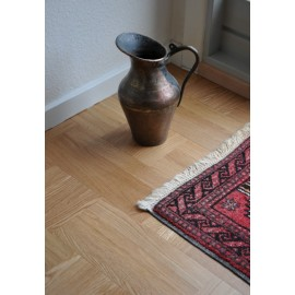 WASHUUS Design. Lamel Eg 3 stav. Hollandsk Mønster. 4 stave på tværs. Lenk. Select. Dim. 22 x 167 x 2160 mm. Natur matlak.
