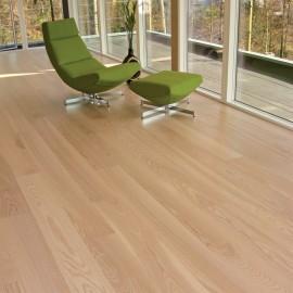 Lamel Ask Planker. Natur. Dim. 22 x 185 mm. Hvid matlak.