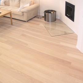 Lamel Ask Planker. Prestige Pacific. Dim. 22 x 235 mm. Hvid hårdvoksolie.