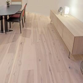 Wiking Gulve. Lamel Ask Planker. Dim. 15 x 235 mm. Hvid matlak.