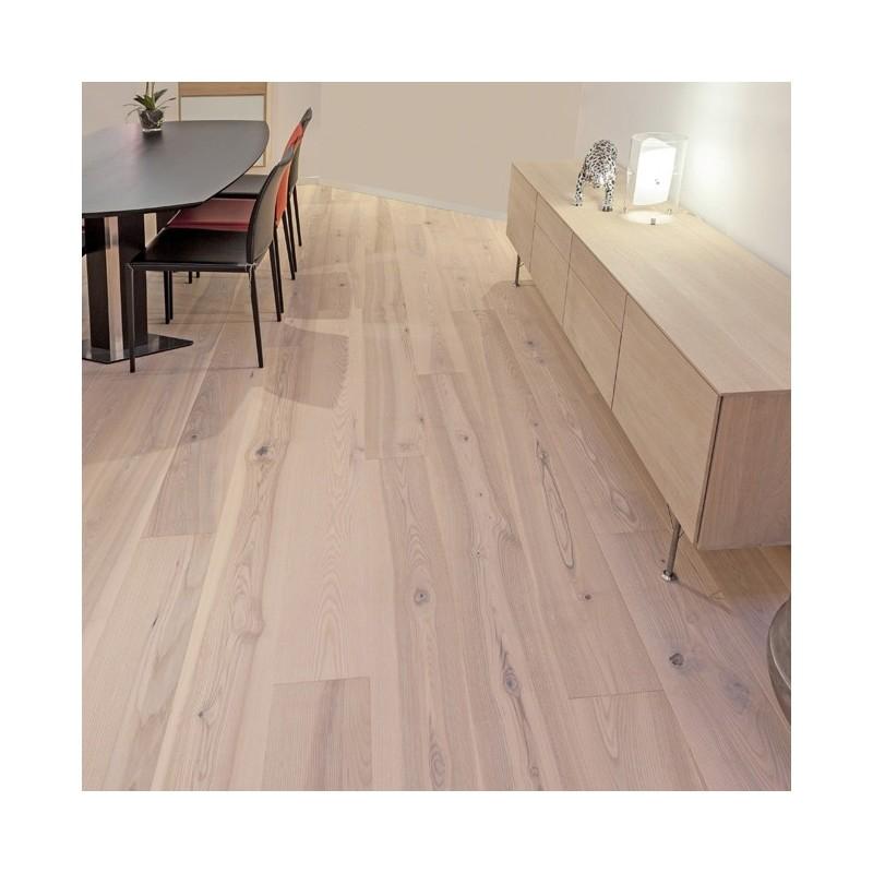 Lamel Ask Planker. Prestige Atlantic. Dim. 22 x 235 mm. Hvid matlak.