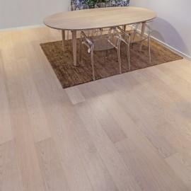 Wiking Gulve. Lamel Eg Planker. Dim. 22 x 185 mm. Hvid matlak.