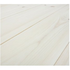 Baseco Golv. CLASSIC. Massiv Fyr Planker. Økonomi. Dim. 25 x 135 mm. Hvid behandlet.