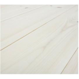 Baseco Golv. CLASSIC. Massiv Fyr Planker. Standard. Dim. 25 x 135 mm. Hvid behandlet.