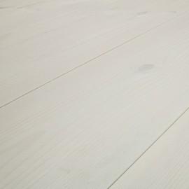 Baseco Golv. MODERN. Massiv Fyr Planker. Standard. Dim. 14 x 135 mm. Hvid behandlet.