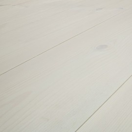 Baseco Golv. MODERN. Massiv Fyr Planker. Standard. Dim. 30 x 180 mm. Hvid behandlet.