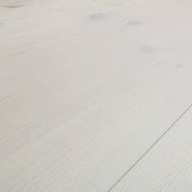 Baseco Golv. PATINA. Massiv Fyr Planker. Standard. Børstet. Dim. 14 x 113 mm. Hvid behandlet.
