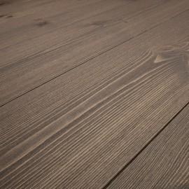 PATINA. Massiv Fyr Planker. Standard. Børstet. Dim. 14 x 135 mm. Brun behandlet.
