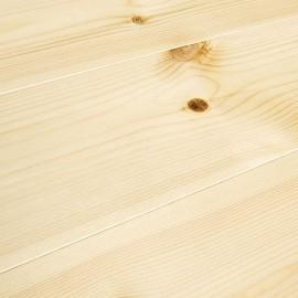 Baseco Golv. TREND. Massiv Fyr Planker. Standard. Børstet. Dim. 14 x 113 mm. Natur voks behandlet.