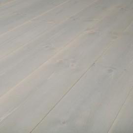 Baseco Golv. TREND. Massiv Fyr Planker. Standard. Dim. 25 x 159 mm. Grå voks behandlet.
