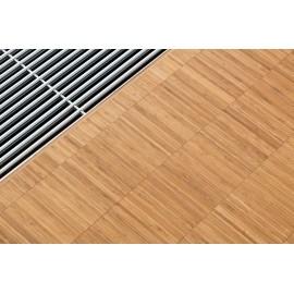 Bambus Højkant. Massiv. Dim. 10 x 140 x 280 mm. Carboniseret. Ubehandlet.