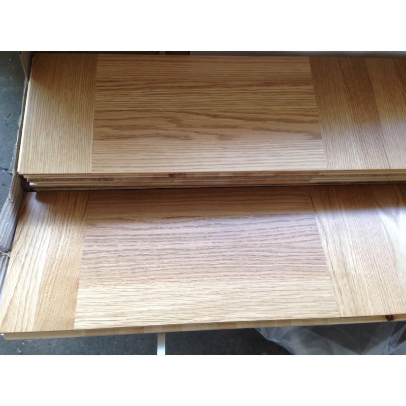 Lamel Eg 3 stav. Hollandsk Mønster. 4 stave på tværs. Gempen. Select. Dim. 22 x 196 x 2360 mm. Natur matlak.