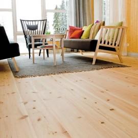 Massiv Fyr Konisk Planker. Natur. Skarp. Dim. 30 x 200-400 mm. Ubehandlet.