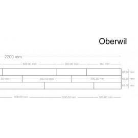 Lamel Eg 3 stav. Parketbrædder. Light Oberwil. Select. Dim. 22 x 204 x 2200 mm. Natur matlak.