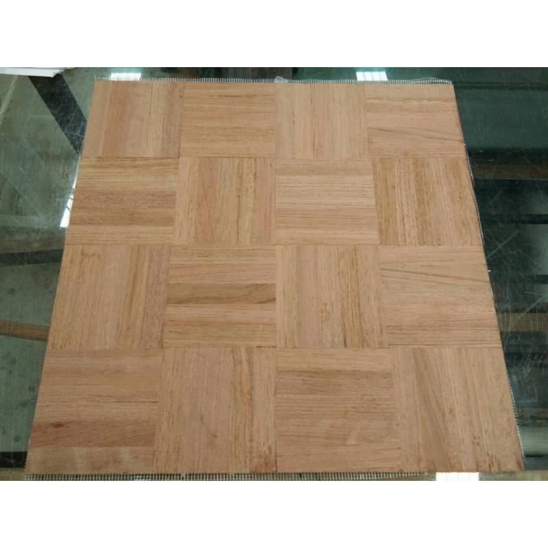 Massiv Jatoba Mosaikparket. Ruder. Select/Natur. 5 fingre. Dim. 8 x 480 x 480 mm. Ubehandlet.