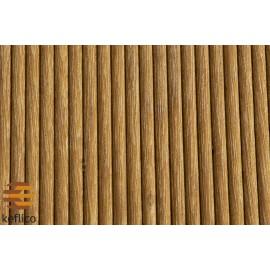 Massiv Bangkirai Terrasseplanker. Dim. 21 x 145 mm.smårillet/glat. Længde: 2150-6050 mm.