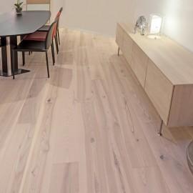Lamel Ask Planker. Prestige Atlantic. Dim. 22 x 235 mm. Hvid hårdvoksolie.