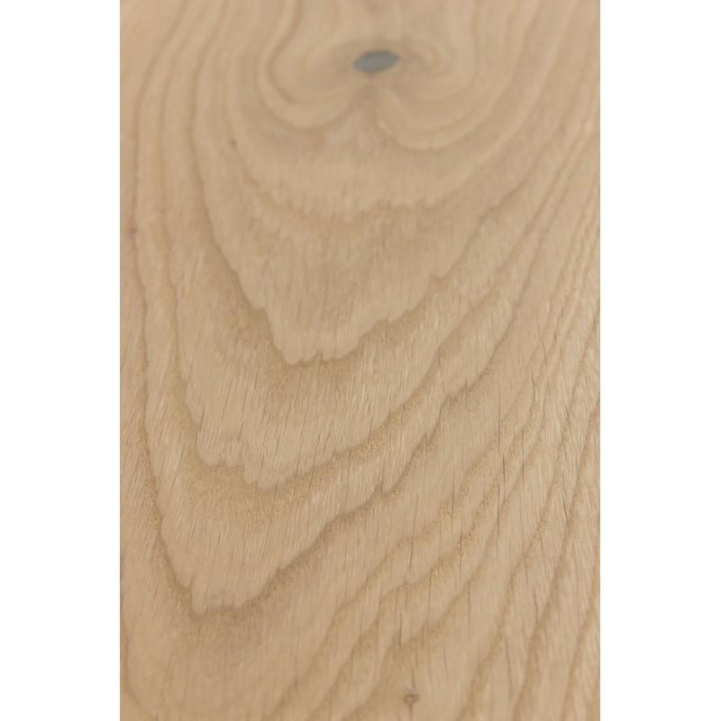 Ubehandlet. 15/4 mm Lamel sildebens planker i Europæisk eg. Bredde 120 mm. Markant.