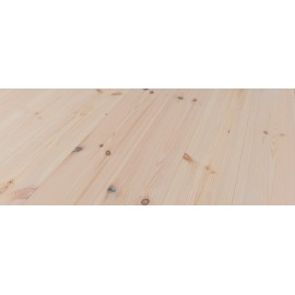 Massiv Fyr Planker. Classic. Dolomit. Dim. 25 x 159 mm. Hårdvoksbehandlet, Hvid.