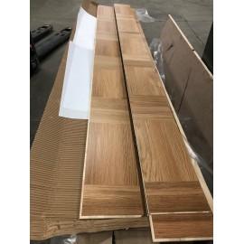 Lamel Eg 3 stav. Hollandsk Mønster. 4 stave på tværs. Porza. Select. Dim. 22 x 188 x 2525 mm. Natur matlak.