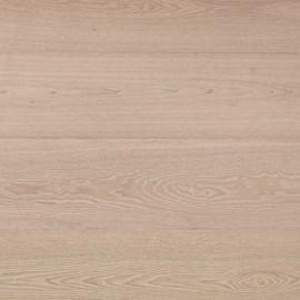 Basicplank. Lamel Ask Planker. Dim. 15 x 189 mm. Natur. Let børstet. Hvid Mat Lak.