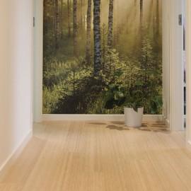 Bambus Planker. Lamel. Dim. 14 x 190 x 1900 mm. Nordic Grey. Hvid matlak.