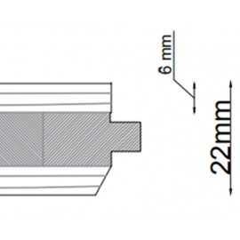 Lamel Eg Fletparket. Chur. Rustic. Dim. 22 x 180 x 2525 mm. Ubehandlet.